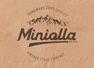 Miniolla Bold Script Font