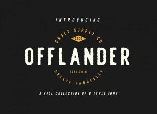 Offlander Display Font