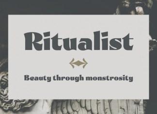 Ritualist Display Font