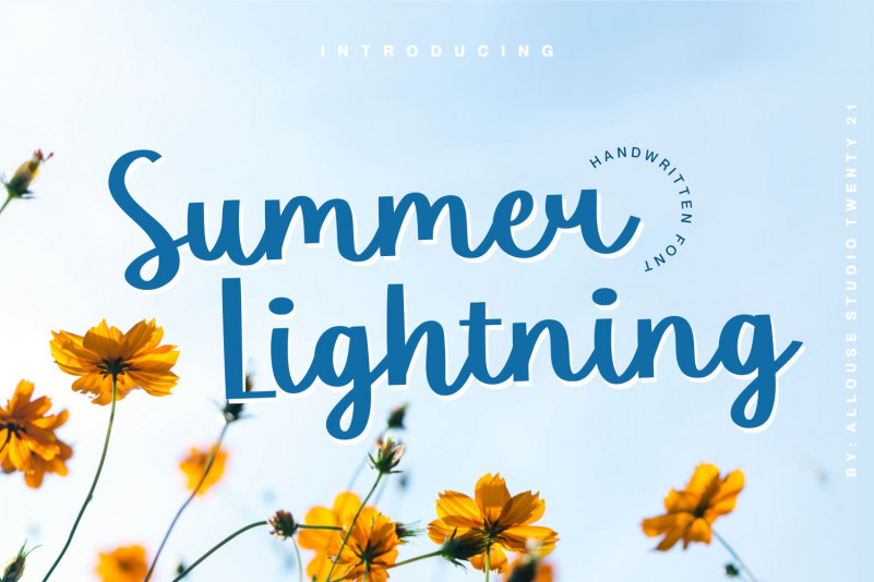 Summer Lightning Script Font