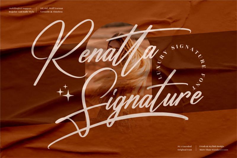 Renatta Signature Script Font