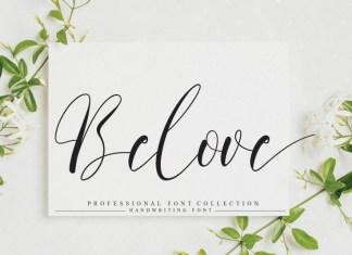 Belove Calligraphy Font
