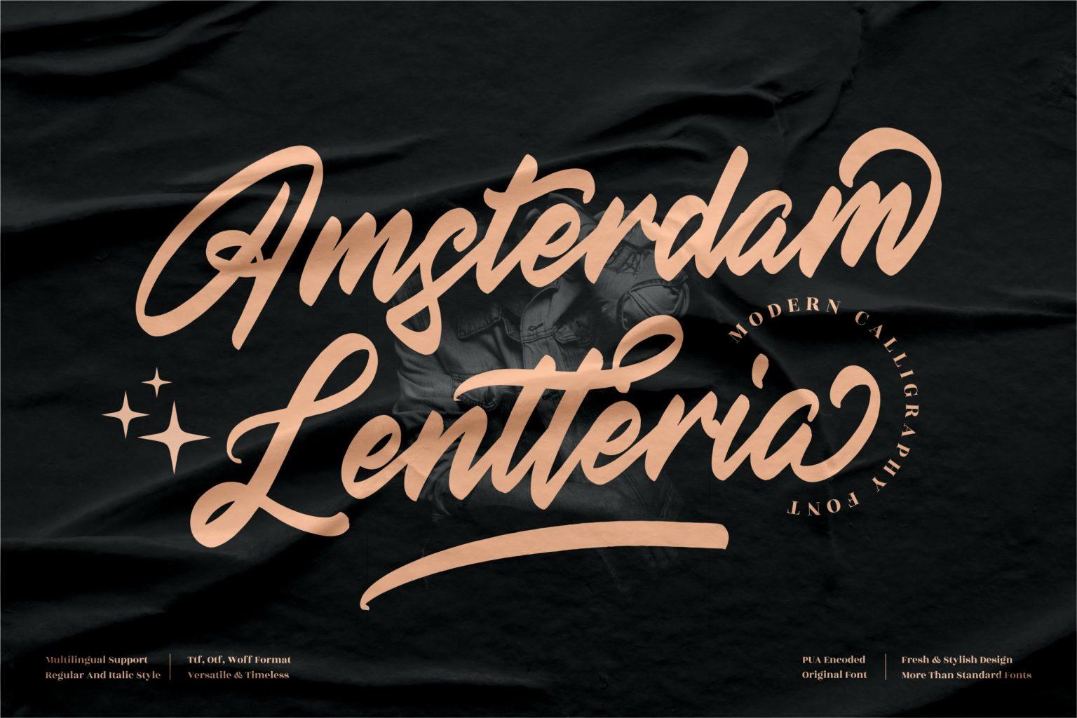 Amsterdam Lentteria Script Font