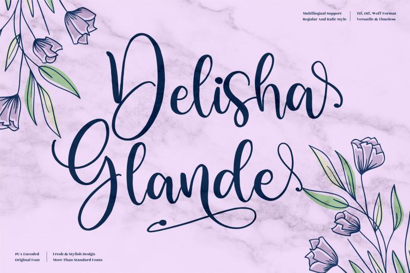 Delisha Glande Calligraphy Font