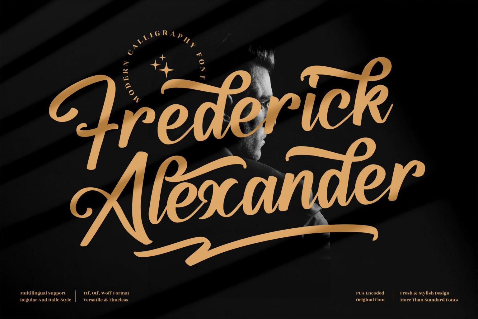 Frederick Alexander Script Font