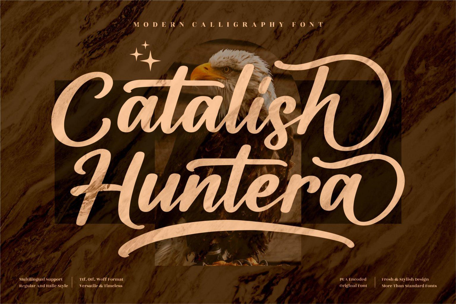 Catalish Huntera Script Font