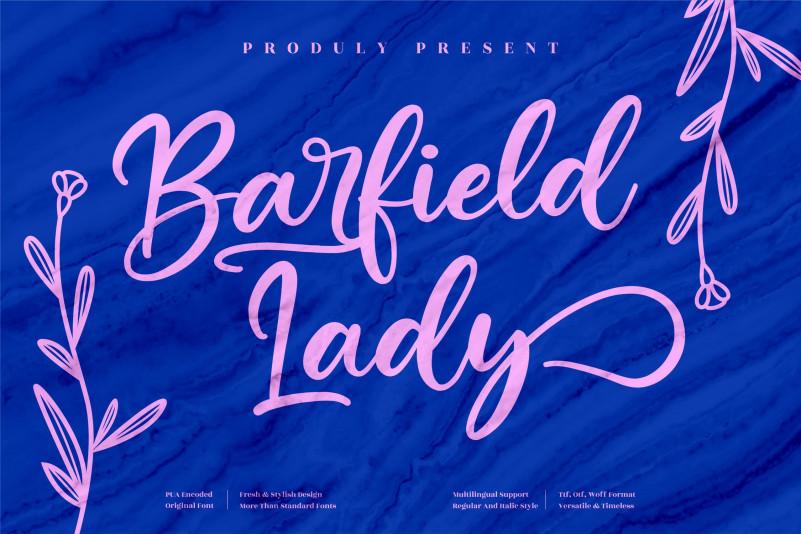 Barfield Lady Script Font