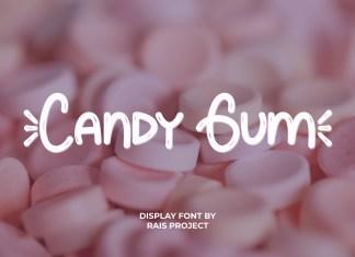 Candy Gum ,Display Font