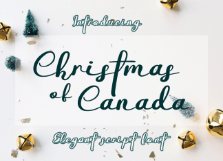 Christmas Of Canada Handwritten Font