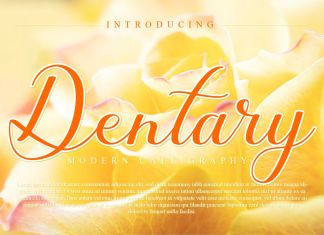 Dentary Calligraphy Font