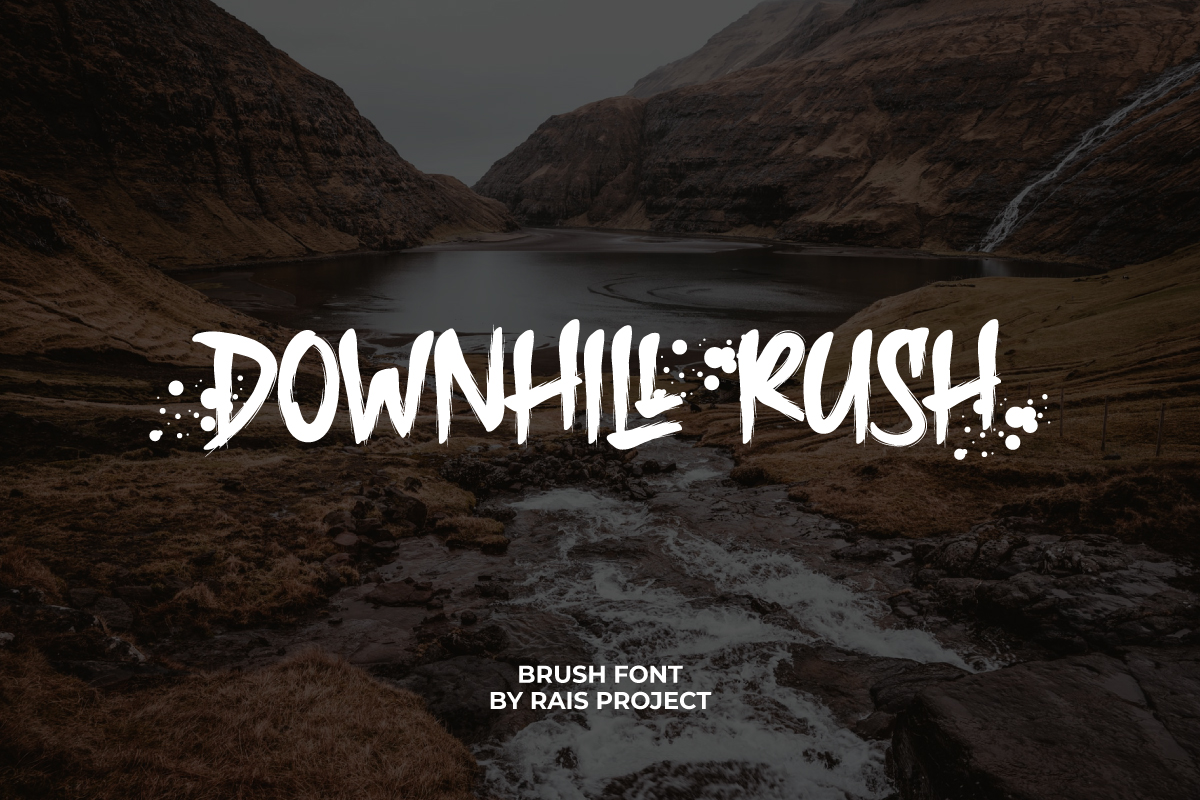 Downhill Rush Brush Font
