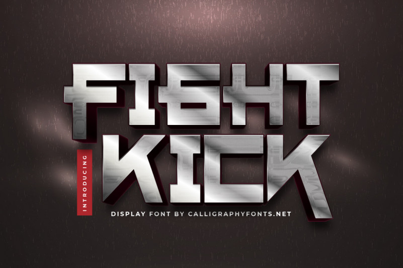 Fight Kick Display Font