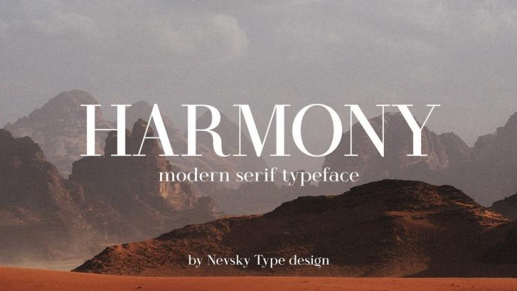 Harmony Serif Font