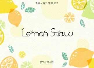 Lemon Straw Display Font