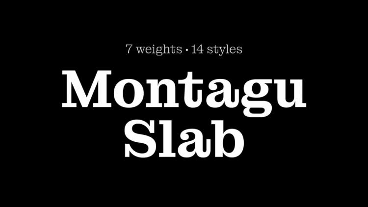 Montagu Slab Serif Font