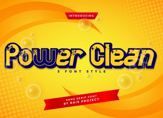 Power Clean Display Font