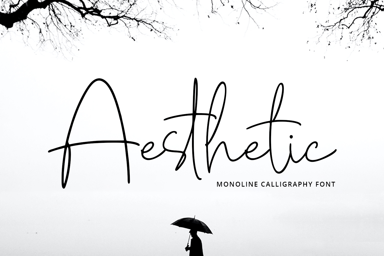 Aesthetic Handwritten Font