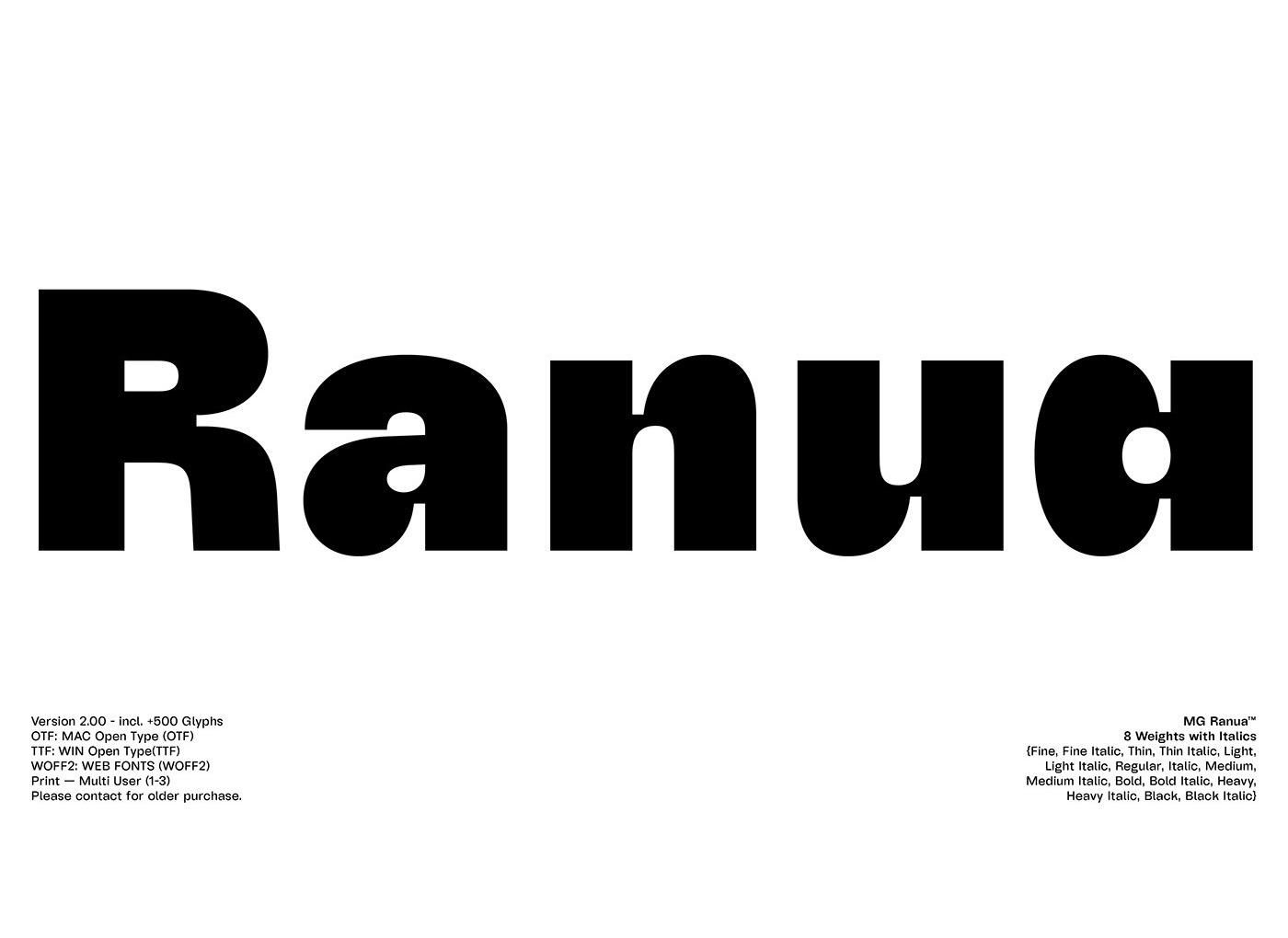 Ranua Sans Serif Font