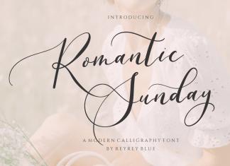 Romantic Sunday Calligraphy Font