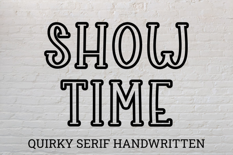 Show Time Display Font