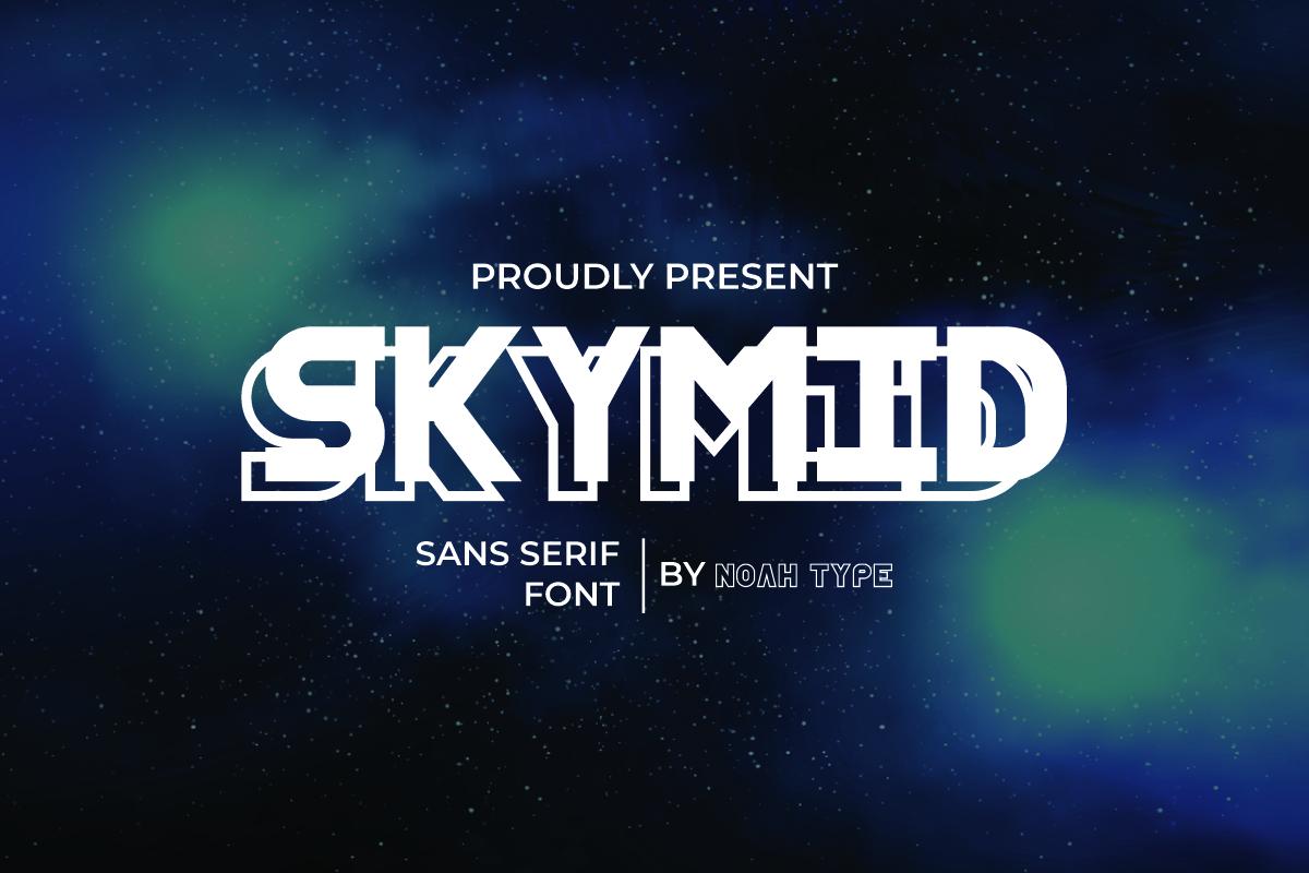 SkyMid Sans Serif Font