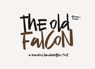The Old Falcon Brush Font