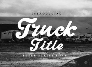 Truck Title Font
