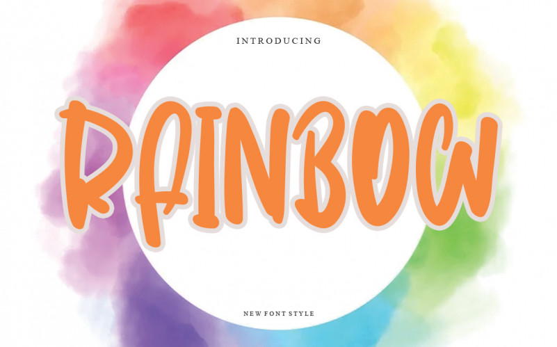 Rainbow Script Font