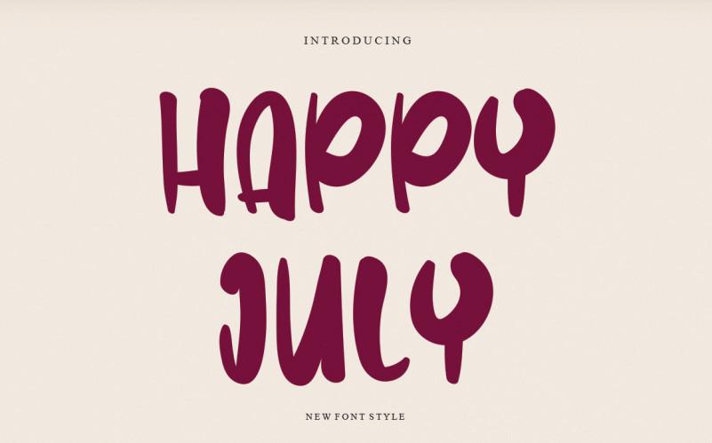 Happy July Font