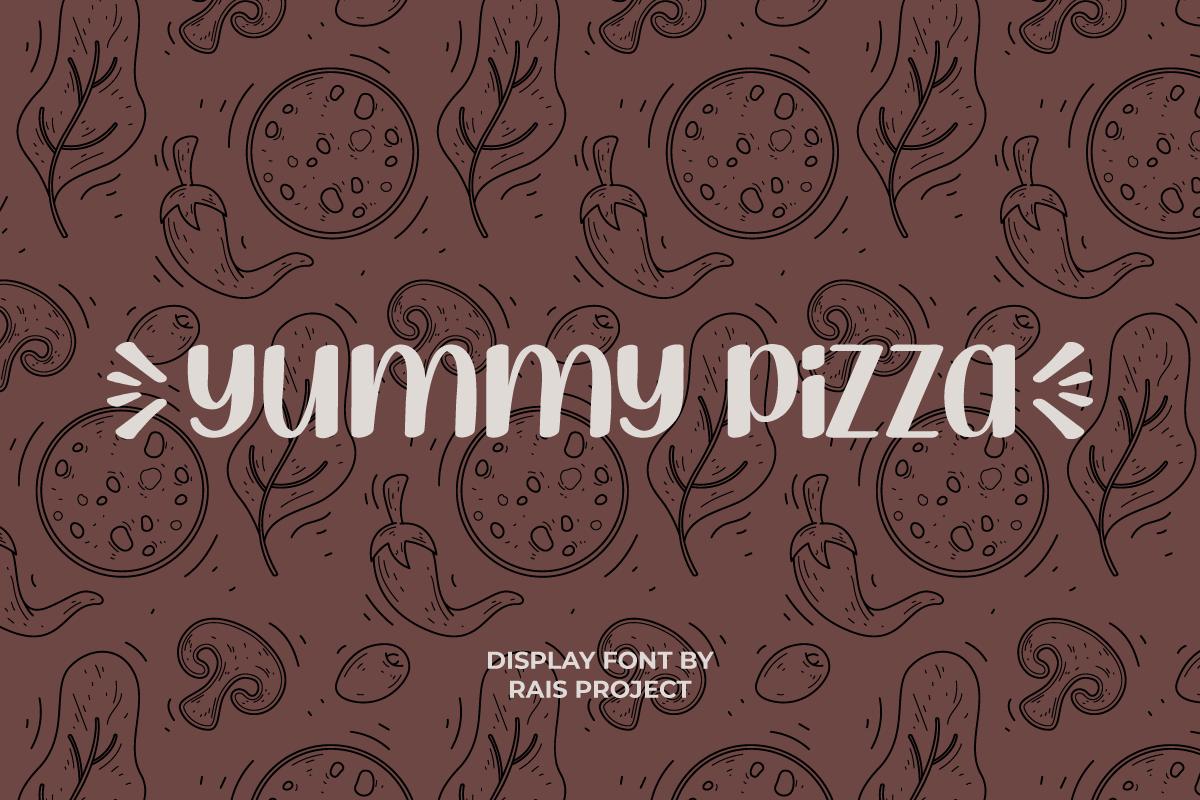 Yummy Pizza Display Font