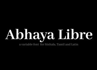 Abhaya Libre Serif Font