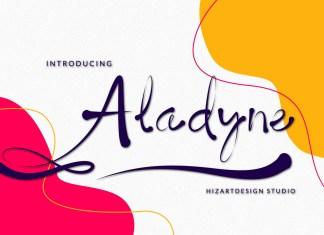 Aladyne Calligraphy Font