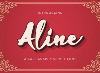 Aline Bold Script Font