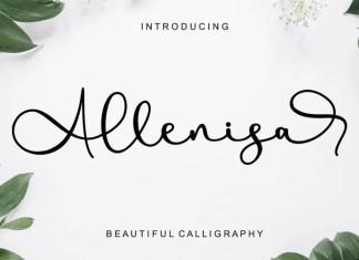 Allenisa Calligraphy Font