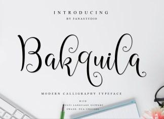 Bakquila Script Font