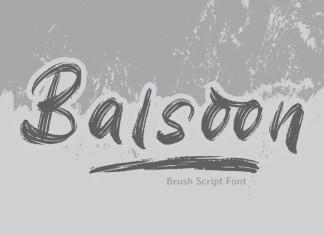 Balsoon Brush Font