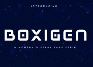 Boxigen Display Font