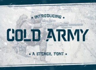 Cold Army Display Font