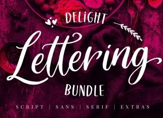 Delight Lettering Script Font