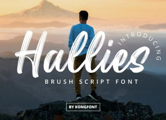 Hallies Brush Font