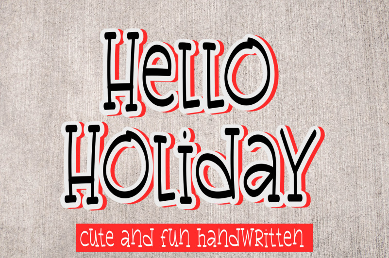 Hellow Holiday Display Font