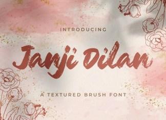 Janji Dilan Brush Font