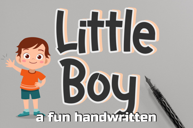 Little Boy Display Font