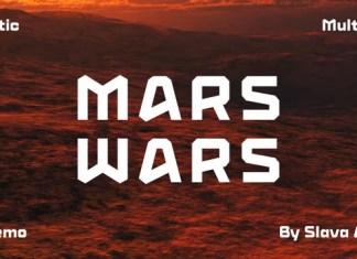 Mars Wars Display Font