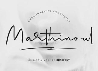 Marthinoul Handwritten Font