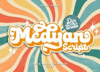 Medyan Bold Script Font