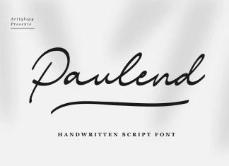 Paulend Script Font