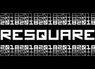 Resquare Display Font