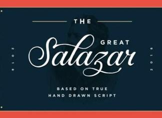 Salazar Script Font