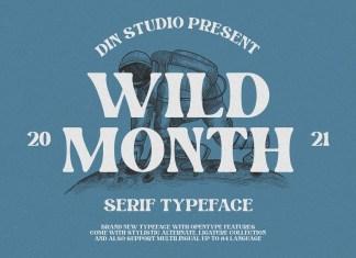Wild Month Serif Font